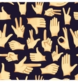 Hand signs icons set pattern vector image