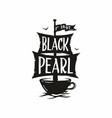 modern professional sign logo cafe black vector image