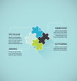 Puzzle piece flat infographics business concept ve vector image