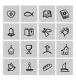 black religion icon set vector image