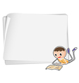 A bondpaper with a boy vector image vector image