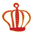 a red crown or color vector image vector image