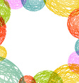 abstract circles consisting of multicolored vector image vector image