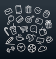 Abstract hand-drawn doodle icons set design vector image