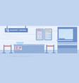 airport passport control service flat vector image
