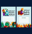 back to school notebook cover design vector image
