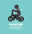 Balance Bike Black Symbol vector image vector image