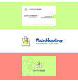 beautiful shopping bag logo and business card vector image vector image