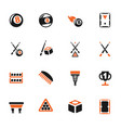 billiards icon set vector image