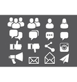 Blog and Social Media icons vector image vector image