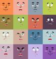 Cartoon faces emoji seamless pattern Set texture vector image vector image