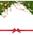 Christmas tree branches on white EPS 10 vector image