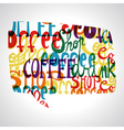 Coffee bubble shape vector image vector image
