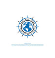 compass and globe world for global expedition vector image vector image