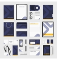 Corporate identity template blue line vector image vector image