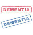 dementia textile stamps vector image vector image