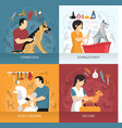 dog care design concept vector image vector image