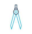 drawing school compass tool study designer vector image vector image