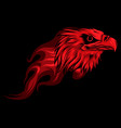 eagle head with flame design vector image