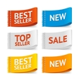 Fabric Clothing Sale Labels vector image vector image