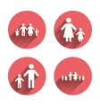 Family with two children sign Parents and kids vector image