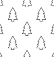 fir-tree seamless pattern vector image vector image