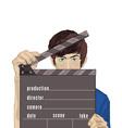 Flash guy cartoon vector image vector image