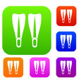 flippers set collection vector image vector image