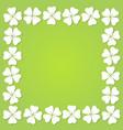 four leaf clover square frame vector image vector image