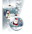 Funny Christmas balls vector image vector image