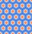 Geometric hexagon seamless pattern vector image vector image