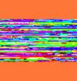 glitch background digital noise pixels tv frame vector image