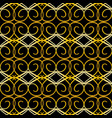 gold seamless geometric pattern on a black vector image vector image