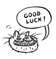 good luck cartoon cat head vector image vector image