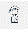 graduation concept linear icon isolated on vector image