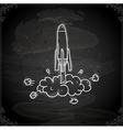 Hand Drawn Rocket Taking Off vector image vector image