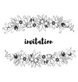 hand drawn vintage floral banner vector image vector image