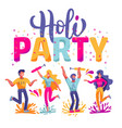 happy holi festival colors background vector image