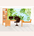 home office flat cozy work vector image