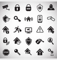 home security set on white background vector image