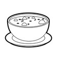 hot soup bowl icon vector image vector image