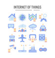 internet things icon in flat design for web vector image vector image