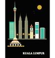 Kuala Lumpur city vector image