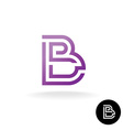 Letter B linear puzzle maze style logo vector image vector image