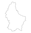 Luxembourg map in vector image