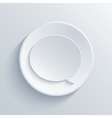 modern light circle icon with shadow vector image
