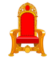 Old antique armchair vector image vector image