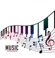 piano and musical notes chord background vector image