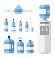 plastic water bottles vector image