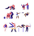 professional sport activities set male and female vector image vector image